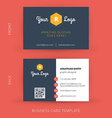 modern creative business card template Flat design vector image vector image