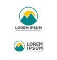 mountain sunset sunrise creative logo template vector image