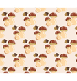 Mushrooms pattern design vector image vector image