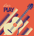 music poster with acoustic guitar background vector image vector image