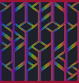 neon color mosaic seamless pattern vector image vector image