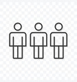 outline friend icon isolated on transparent vector image vector image