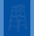 outline household steps vector image vector image