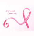 pink ribbon banner vector image vector image