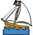 Pirate Boat vector image vector image