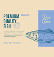 premium quality trout abstract fish vector image vector image