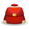 Red bag vector image vector image