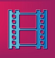 reel of film sign blue 3d printed icon on vector image vector image
