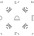 ruler and protractor pattern seamless black vector image vector image