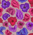 Seamless pattern of fancy flowers vector image