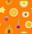 seamless pattern with fruit icons vector image vector image