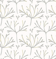 Seamless pattern with hand drawn branches vector image vector image