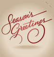 seasons greetings hand lettering vector image vector image