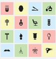 set of 16 editable coiffeur icons includes vector image vector image
