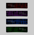 set of abstract technology banners vector image vector image