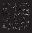 Thin hand drawn arrows talk bubble geometric shape vector image vector image