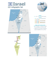 Israel maps with markers vector image