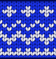 seamless christmas knit pattern vector image