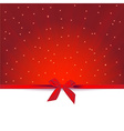 red gift greeting card vector image
