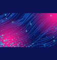 abstract blue magenta night star background vector image vector image
