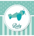 Baby Shower design airplane icon graphic vector image vector image