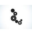 background with cogwheels vector image vector image