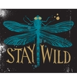 Background with dragonfly and hand drawn lettering vector image vector image