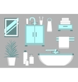 Bathroom Flat Elements vector image