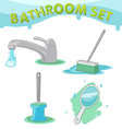 Bathroom Symbol icon set D vector image