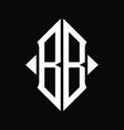 bb logo monogram with shield shape isolated