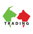 bear bull market investment exchange finance vector image