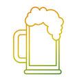 beer glass foam drink icon vector image vector image