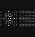 black and white handmade aztec boho seamless vector image