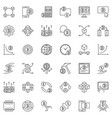 blockchain and cryptocurrency outline icons vector image vector image