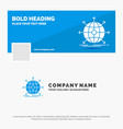 blue business logo template for business global vector image vector image