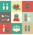 Bowling icons vector image
