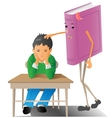 boy with book vector image vector image