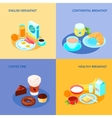 Breakfast Flat Set vector image vector image