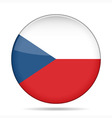 button with flag of Czech Republic vector image