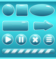 cartoon water buttons and loading bar for gui vector image
