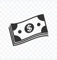 cash dollar paper money icon isolated vector image