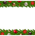 christmas garland isolated white background vector image vector image