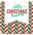 christmas retro card vector image vector image
