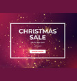 christmas sale design with gold glitter and star vector image vector image