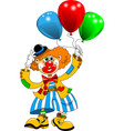 clown with balls vector image vector image