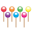 colorful lollipop candy balls vector image vector image