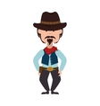 cowboy hat western icon graphic vector image