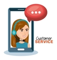 customer service agent working online vector image