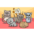 cute kittens group cartoon vector image vector image