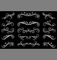 dividers black filigree floral decorations on vector image vector image